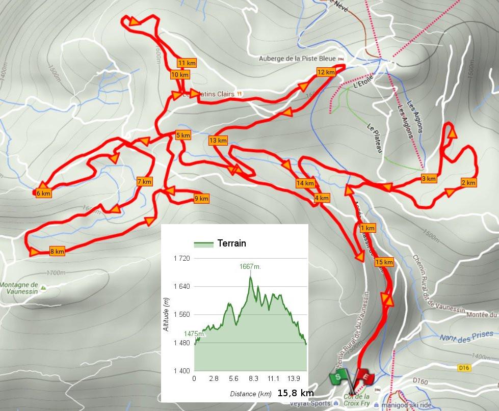 La piste Noire Tetras Lyre. Ski de fond à Beauregard