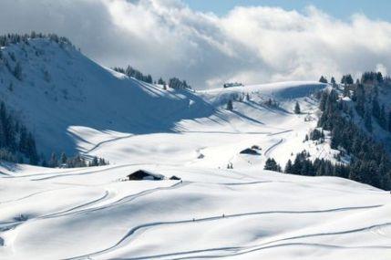 Le Domaine de ski de fond vu de Beauragard