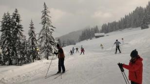 Sommet de la Piste d'accès de ski de fond du domaine nordique de Beauregard.