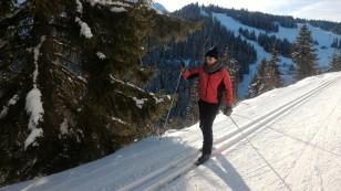 Quentin premier flocon de ski de fond ;-)