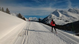 Tour du plateau en ski de fond , au soleil de Beauregard