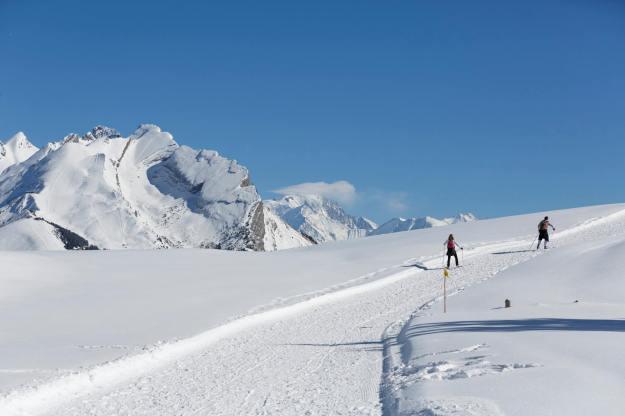 Ski de fond mais sur le chemin piéton ;-)