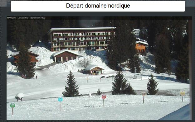 Départ de ski de fond du col de la crois Fry.