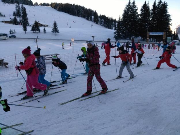 Les petits Skieurs de Manigod en action.