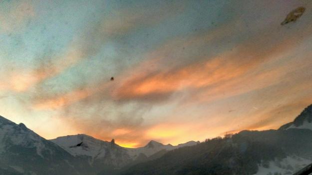 lever de soleil sur l'aiguille de Manigod,