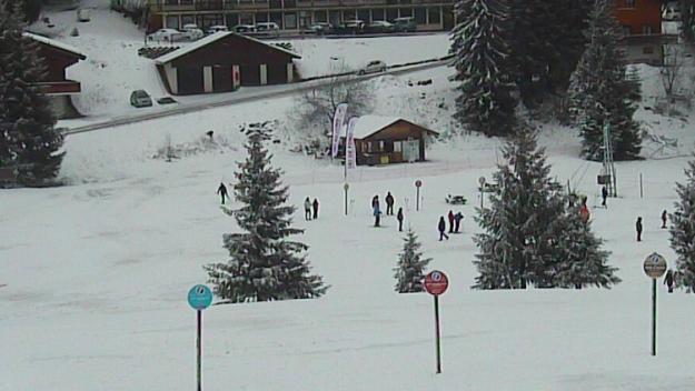 Départ de ski de fond au col de la croix Fry