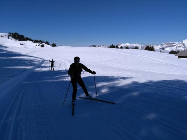 Skieurs en action :-)